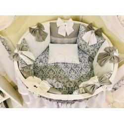 Универсальный комплект для круглой и овальной кроватки 12 предметов Incanto Эль сити бязь