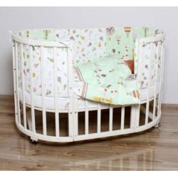 Универсальный комплект для круглой и овальной кроватки Incanto Лимпопо (6 предметов) бязь