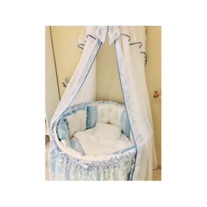 Комплект в круглую (овальную) кроватку Диана 12 предметов