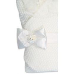 """Конверт-одеяло на выписку Сонный гномик """"Жемчужинка"""" с мехом"""