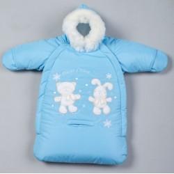 Меховой конверт для новорожденного Селена (Сдобина) Зимние развлечения Арт. 101