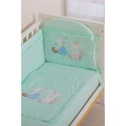 Комплект в кроватку, 7 предметов Селена «На лесной полянке»  АРТ. - 67