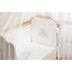 Комплект в кроватку 7 предметов Селена «Принцесса»  АРТ. - 83