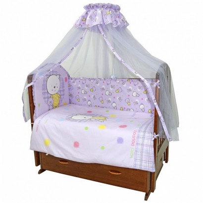 Комплект в детскую кроватку Топотушки Мой Медвежонок 7 предметов