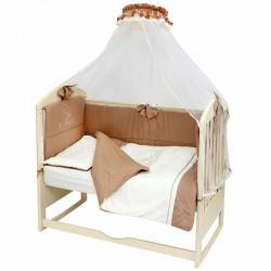 Комплект в детскую кроватку Топотушки Капучино 8 предметов