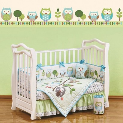 Комплект в кроватку для новорождённого 7 предметов Giovanni Summer Owls (серия Shapito)