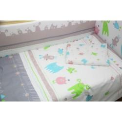 Комплект в кроватку Polini Монстрики 7 предметов 140х70см