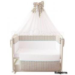 Комплект в кроватку Polini 7 предметов 120х60см