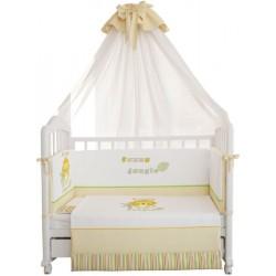 Комплект в кроватку Polini Джунгли 7 предметов 140х70см