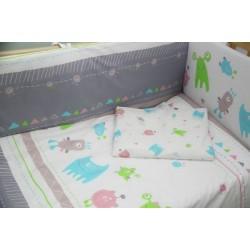 Комплект постельного белья Polini Монстрики 120х60см 3 предмета