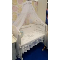 Комплект в детскую кроватку Селена 121 Коляска 7 предметов бязь, сатин