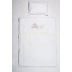 Комплект в кроватку Селена 98 Маленькое Высочество 6 предметов бязь, сатин, сатин-жаккард
