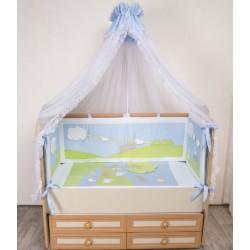 Комплект в кроватку Селена 91 Летнее утро 7 предметов бязь, сатин