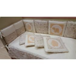 Комплект в кроватку Селена 119 Мои маленькие друзья 7 предметов бязь, сатин, тик