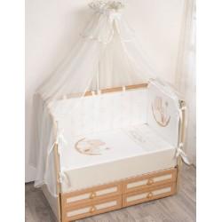 Комплект в кроватку Селена 94 Под счастливой звездой 7 предметов бязь, сатин
