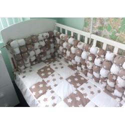 Комплект в кроватку 7 предметов Селена 125 бязь