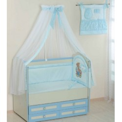 Комплект в кроватку 8 предметов Селена 17 бязь