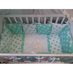 Комплект в кроватку 7 предметов Селена 28 бязь
