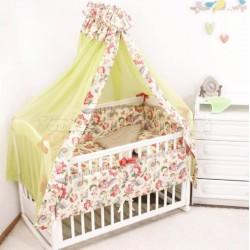 Комплект в кроватку Крошкин дом Райские цветы 6 предметов