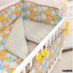 Комплект в кроватку Крошкин дом Фруктовый сад 6 предметов