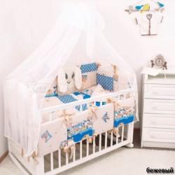 Комплект в кроватку Крошкин дом Мой зайка 18 предметов