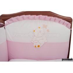 Комплект в кроватку Сонный гномик Пушистик 6 предметов сатин
