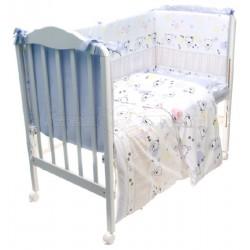 Комплект в кроватку Сонный гномик Конфетти 6 предметов сатин