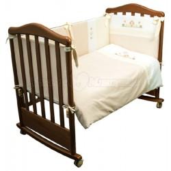 Комплект в кроватку Сонный гномик Кантри 6 предметов сатин