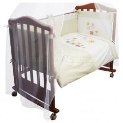 Комплект в кроватку Сонный гномик Пикник 7 предметов сатин