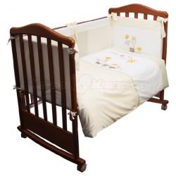 Комплект в кроватку Сонный гномик Пикник 6 предметов сатин