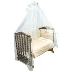 Комплект в кроватку Сонный гномик Кантри 7 предметов сатин