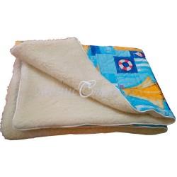 Детский плед одеяло шерсть «Меринос» 110*140см.