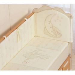 Бампер для детской кроватки Селена 87.11 Облачка со съемным чехлом сатин