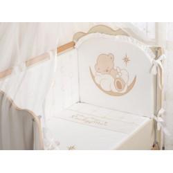 Бампер для детской кроватки Селена 94.11 Под счастливой звездой со съемным чехлом сатин