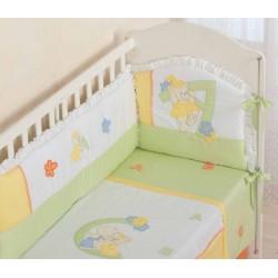 Бампер для кроватки новорожденного Селена 86.11 Азбука сатин