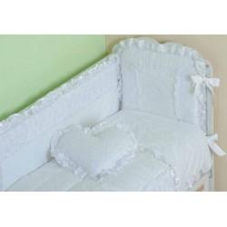 Бампер для детской кроватки Селена 69.11 Нежность со съемным чехлом сатин