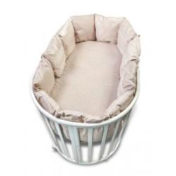 Бортики в круглую кроватку Версаль из 12 подушек