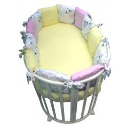 Бортик в круглую кроватку Конфетти 12 подушек сатин