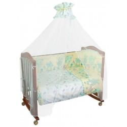 Бампер в детскую кроватку Сонный гномик Акварель