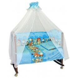 Бампер в детскую кроватку Сонный гномик Африка