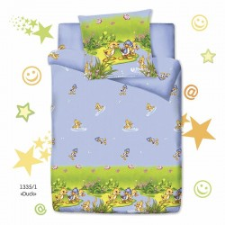 1,5 спальное постельное бельё для кровати дошкольника Монис стиль Duck