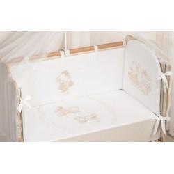 Комплект в детскую кроватку 3 предмета Селена «На лесной полянке» АРТ. - 67.12
