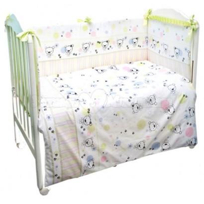 Комплект детского постельного белья Сонный гномик Конфетти 3 предмета сатин
