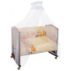Двойной комплект постельного белья Сонный гномик Африка 6 предметов бязь