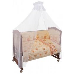 Комплект в кроватку Сонный гномик Пчёлки 6 предметов бязь