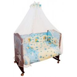 Комплект в кроватку Сонный гномик Мишкин Сон 6 предметов бязь