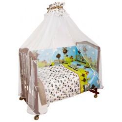 Комплект в кроватку Сонный гномик Каникулы 7 предметов бязь