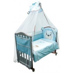Комплект в кроватку Сонный гномик Умка 7 предметов бязь