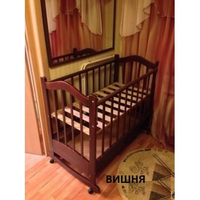 Детская кроватка для новорожденного Ведрусс Кира-1 колёса + качалка + ящик