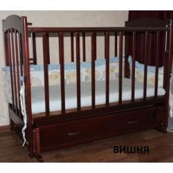 Детская кроватка для новорожденного Ведрусс Радуга-4 поперечный маятник + закрытый ящик